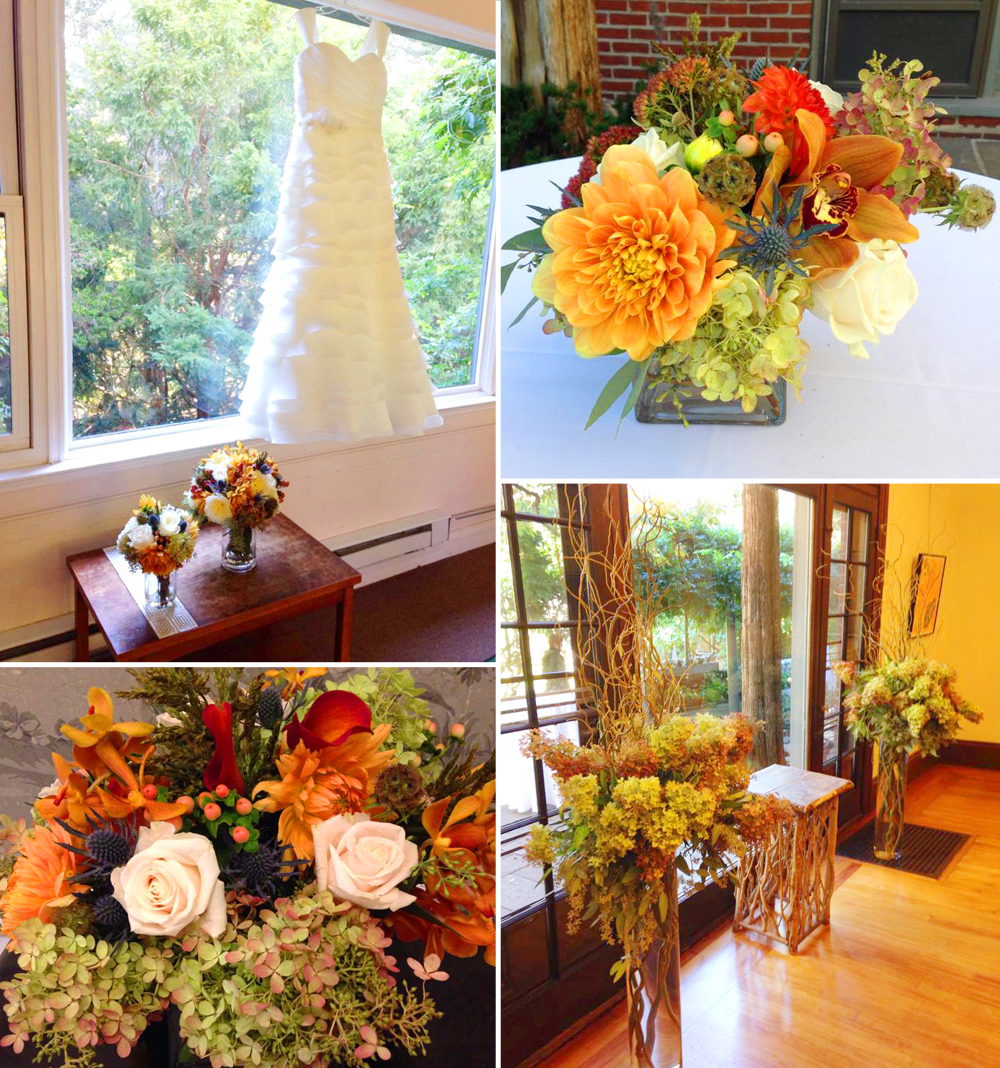 Amal & Rob's Autumnal Wedding Flowers