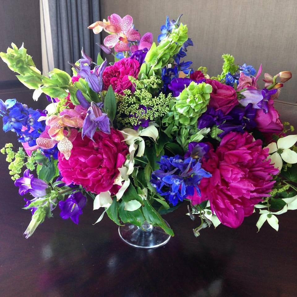 Vibrant Custom Summer Floral Arrangements Boston