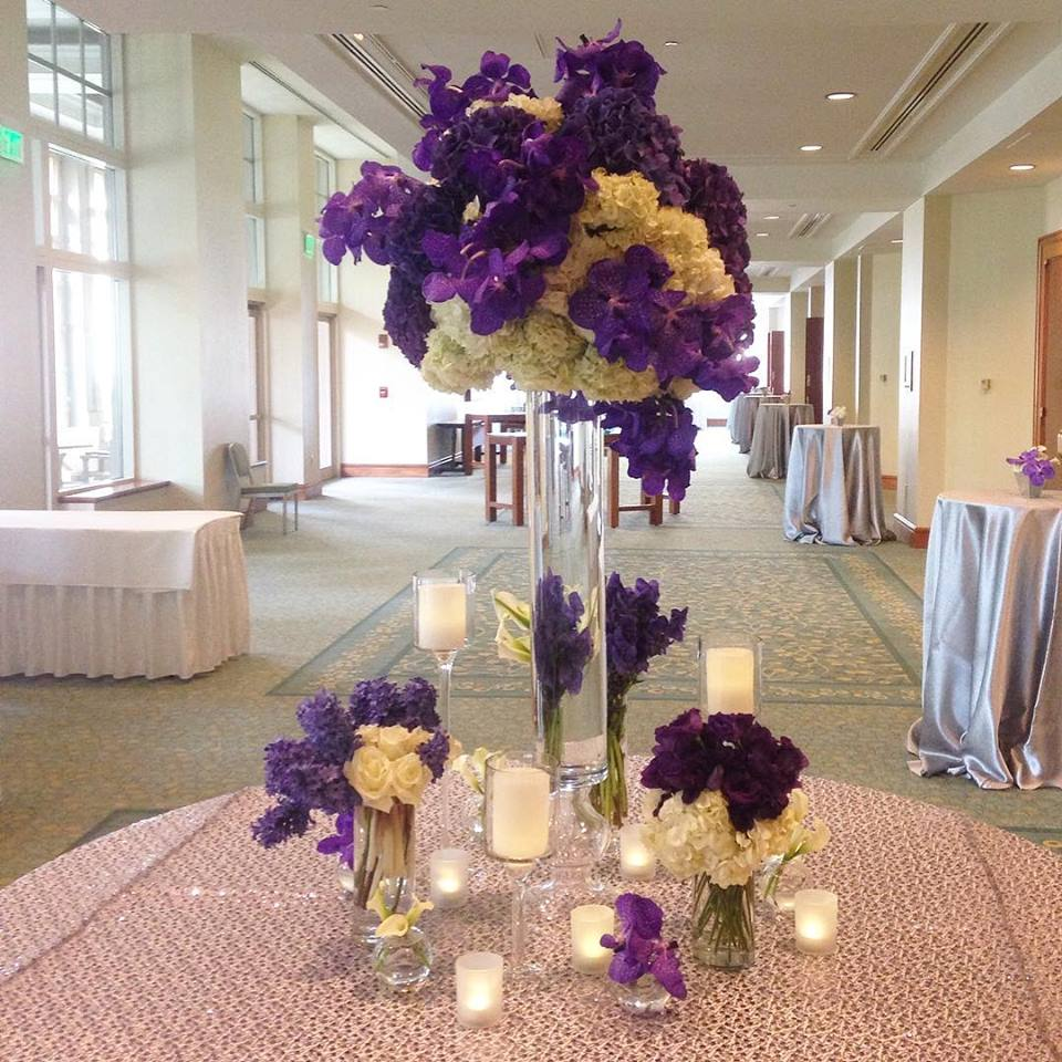 Purple White Custom Fall Wedding Flowers Jeri Solomon Floral Design