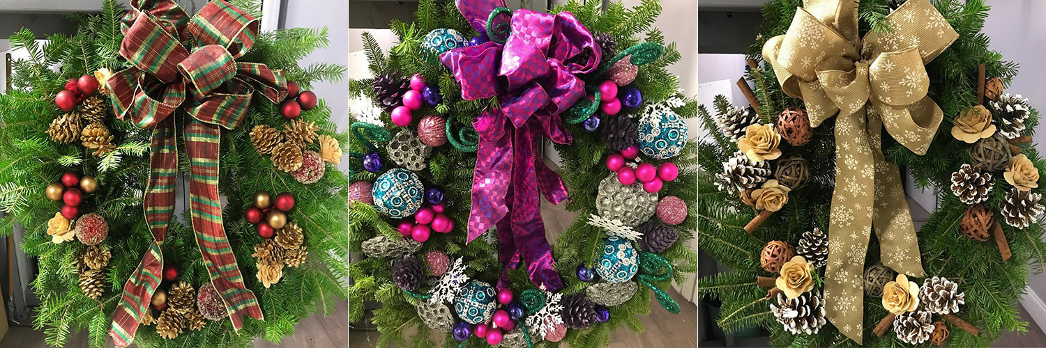 Custom Holiday Wreaths Boston