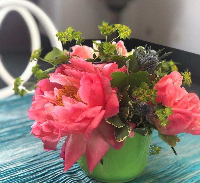 Coral Peony Custom Floral Arrangements